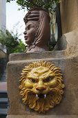 pic of messina  - Lion sculpture on a wall - JPG