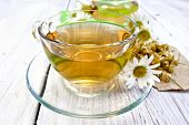 picture of chamomile  - Tea in a glass cup - JPG