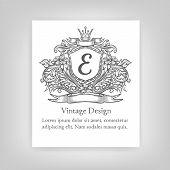 stock photo of monogram  - Vintage emblem  monogram  vintage emblem - JPG