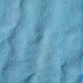 foto of bast  - Blue wisp of bast cloth texture background - JPG