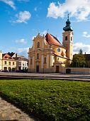 image of carmelite  - Carmelite Church in the city of Gyor Hungary built in 1725 - JPG