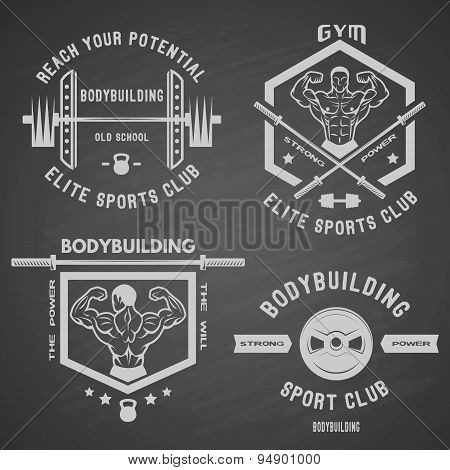 Bodybuilding White Label Set.