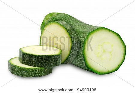 Fresh cutted zucchini
