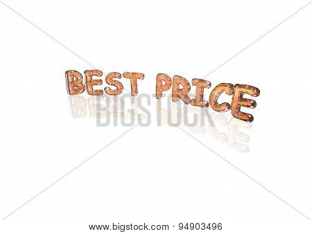 Word Best Price Made From Percentage Symbols.