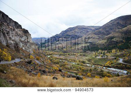Landscape With Vardzia Cave City Monastery