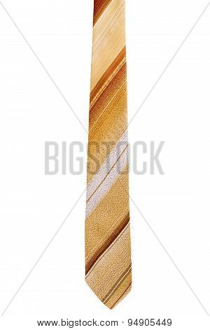 Brown And Yellow Striped Tie