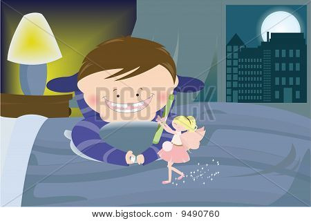 Tooth Fairy With A Boy