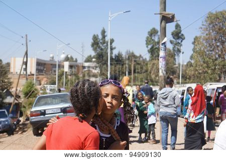 Schoolgirls in Addis Ababa