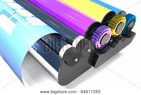 Rollers Of Printer.