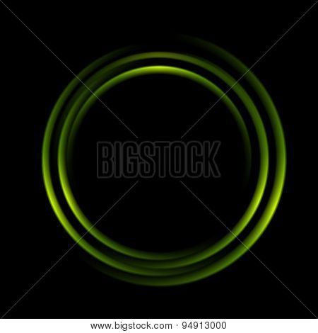 Graphic illustration of abstract green circles logo. Vector design background