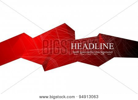 Graphic technology geometric illustration for corporate design. Vector art background