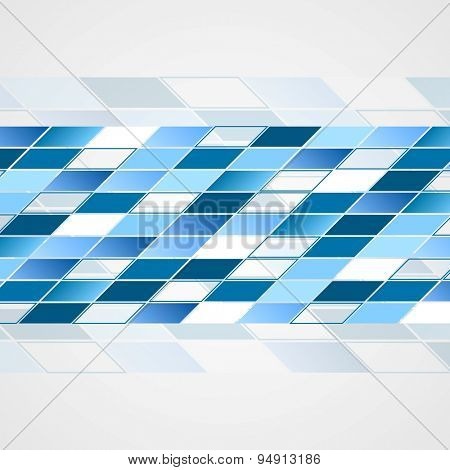 Tech abstract blue background. Vector design illustration