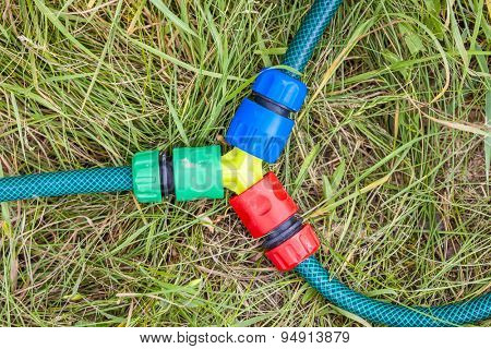 detail of hose in the garden
