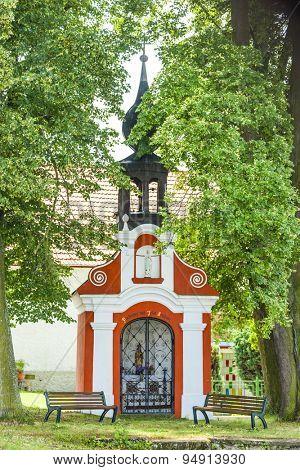 chapel in Svebohy near Horni Stropnice, Czech Republic