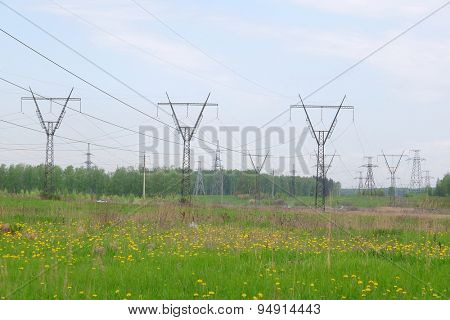 Electricity Pilons in the Countryside