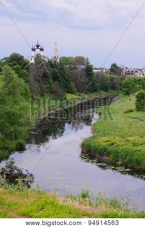 Landscape with the image of Suzdal, Russia
