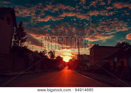 summer sunny street