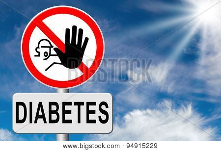 diabetes find causes and sceen for symptoms of type 1 or 2 prevention by dieting or treath with medication or low fat and sugar free diet