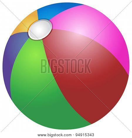 Vector colorful beach ball