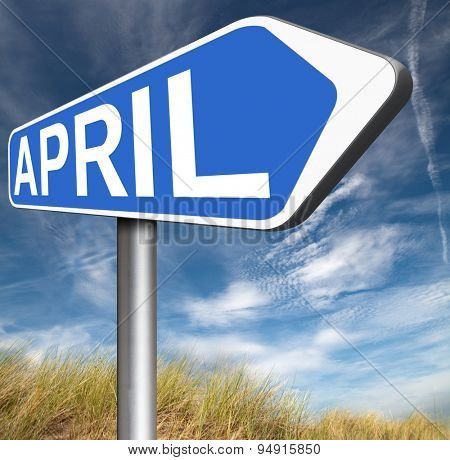 april spring month event calendar schedule