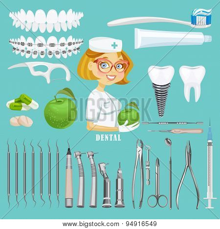 Dental care symbols
