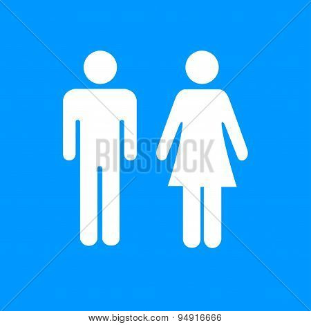 Vector Man And Woman Icons,