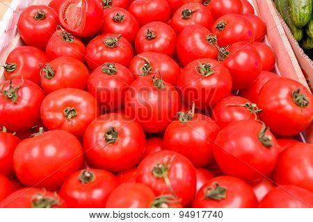 Background With Fresh Tomatos