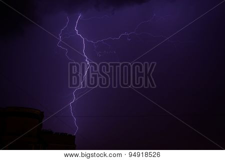 Bright Blue Majestic Lightning Bolt