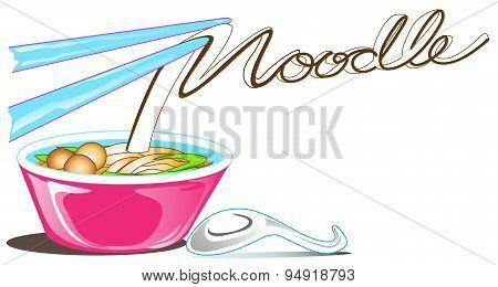 Noodle Logo Symbol Calligraphy