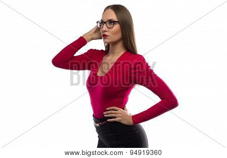 Photo of woman looking  into the distance