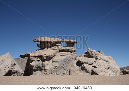 Stone rock formation in Atacama Desert, Bolivia