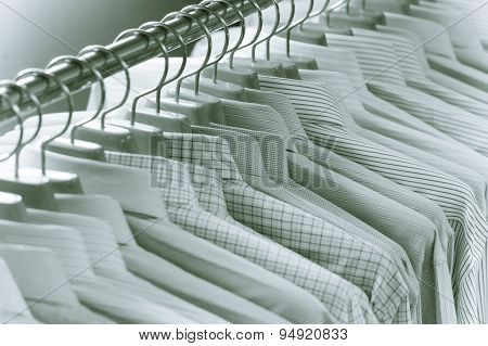 Luxury Men Shirts On Hanger