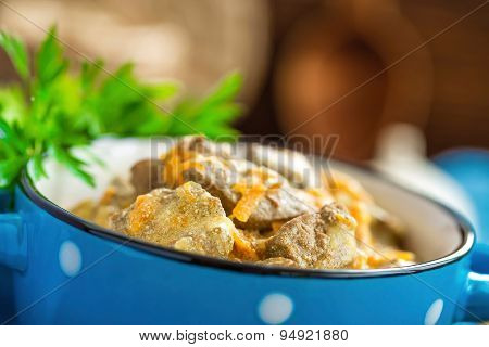 liver in sauce