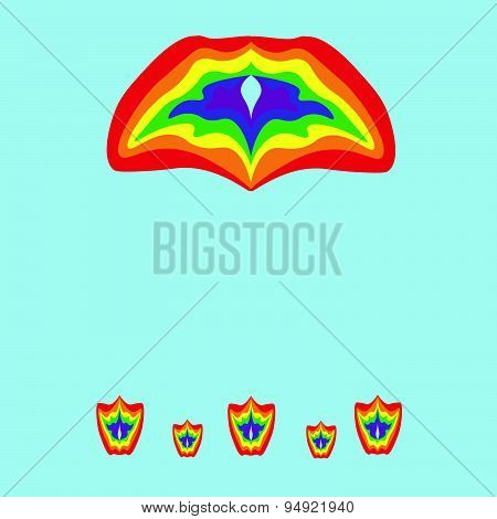 Rainbow Colors Gay Lesbian LGBT vector illustration