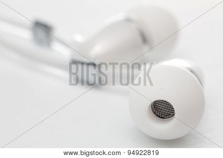 Earphones Close-up