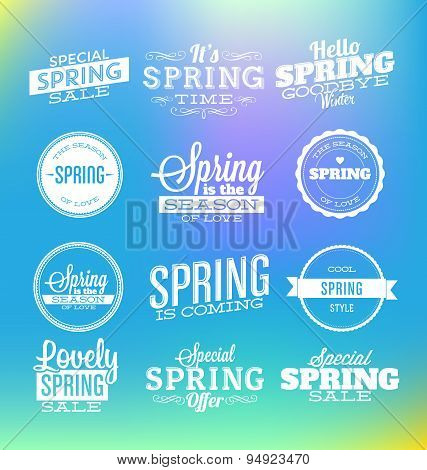 Typographic Design - It's Spring Time.Spring Design Collection.eps