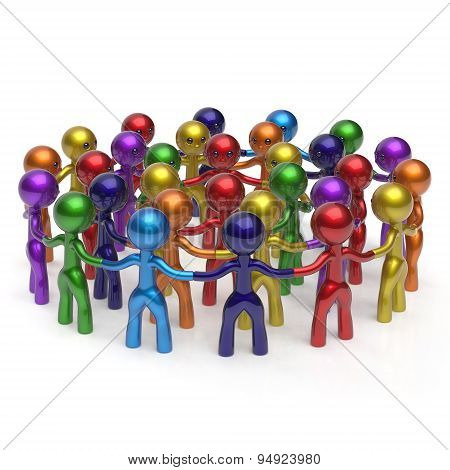 Social Network Crowd Circle Worldwide Large Group People