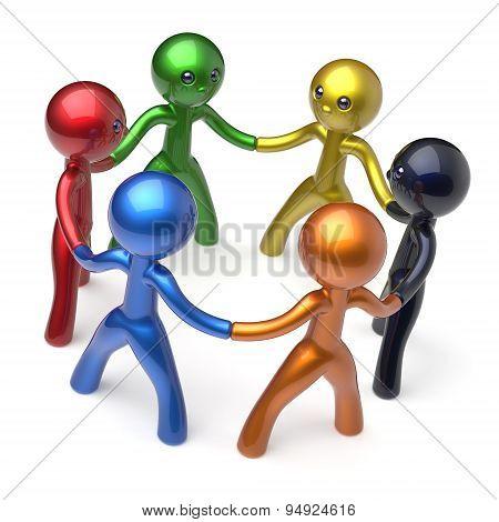 Characters Teamwork Men Social Network Human Resources
