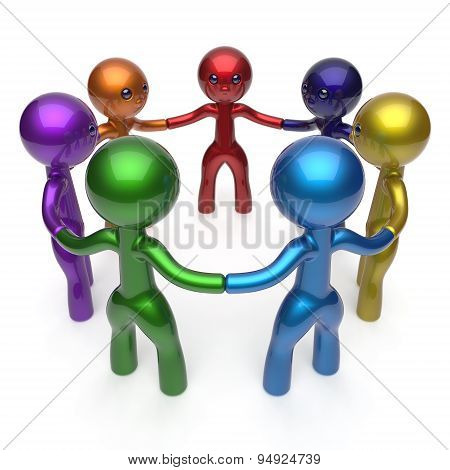 Teamwork Human Resources  Social Network Circle People