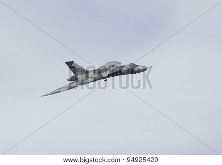 Weston Super Mare, Uk - June 21: Avro Vulcan Bomber Aircraft Xh558 Participates In The Combined Air