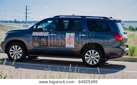 2015 Special Olympics Unified Relay Vehicle across America