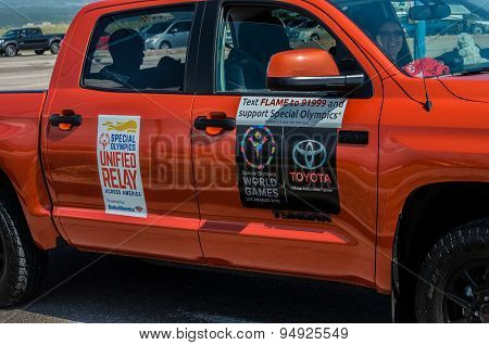 2015 Special Olympics Unified Relay truck across America