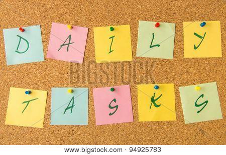 cork board daily tasks