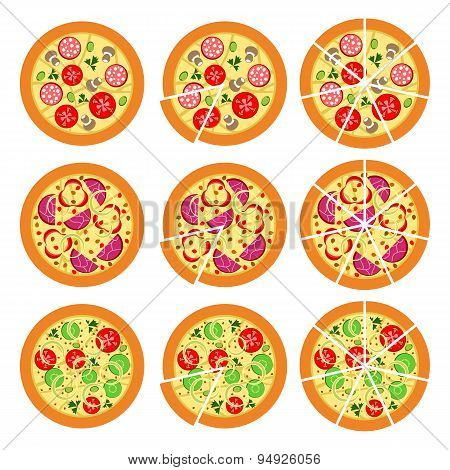 Set Of Pizza
