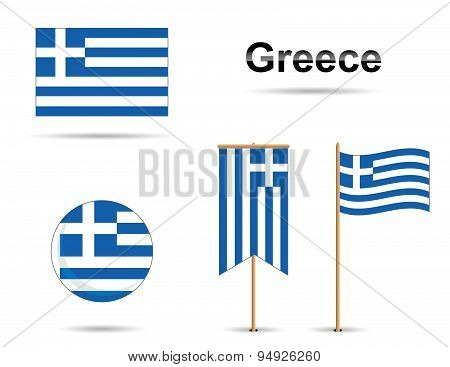 Greece Flags