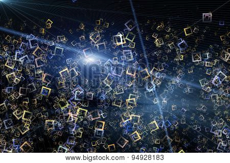 Fantastic Abstract Futuristic Technology Background Design Illustration