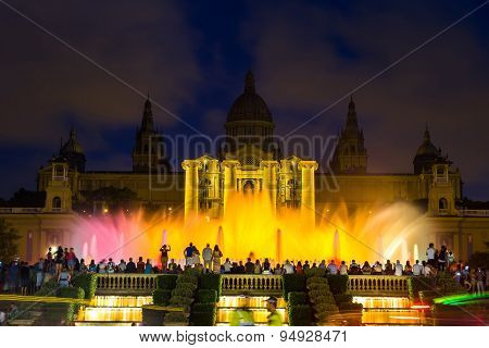 Magic Fountain Light Show In