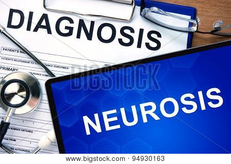 Diagnosis Neurosis and tablets.
