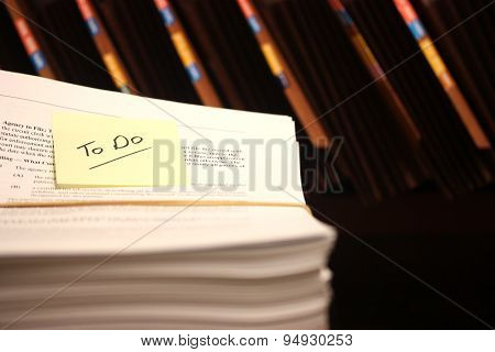 Stack Of Documents To Be Filed