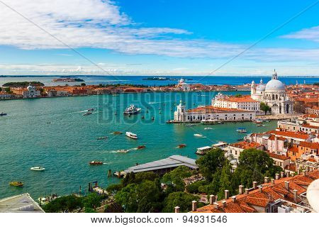 View from Campanile di San Marco to Venice, Italy